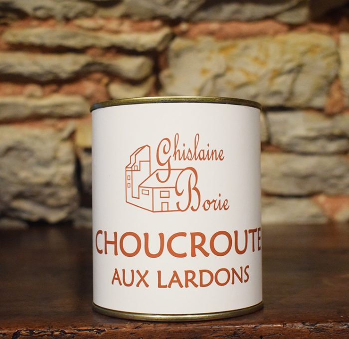 Choucroute aux Lardons du Lot - 3/4 parts – 750 gr