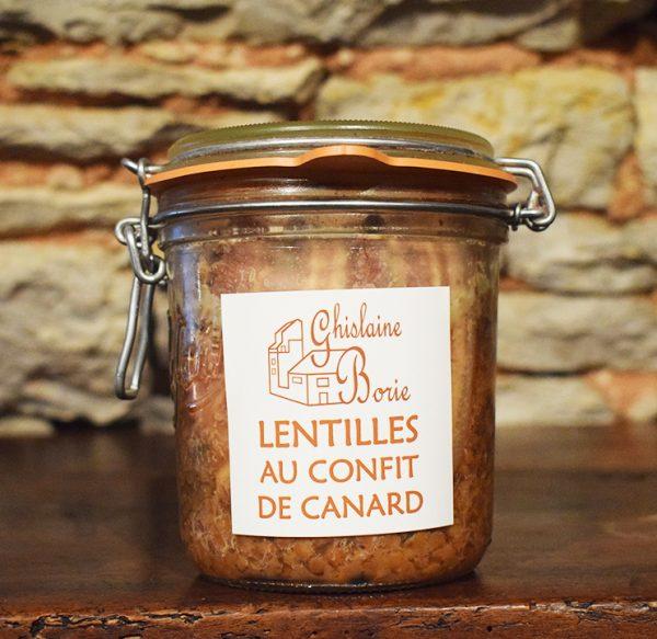 Lentilles au Confit de Canard du Lot - 2 parts – 800 gr