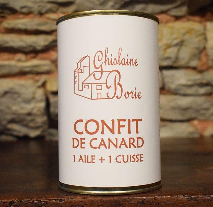 Confit de Canard du Lot 1 Aile + 1 Cuisse - 550 gr