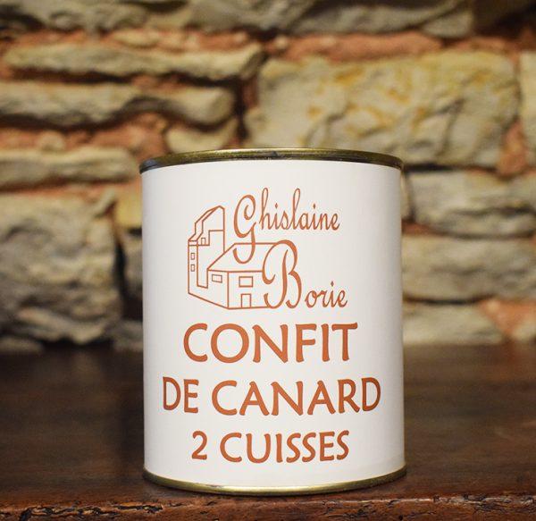 Confit de Canard du Lot 2 Cuisses - 400 gr