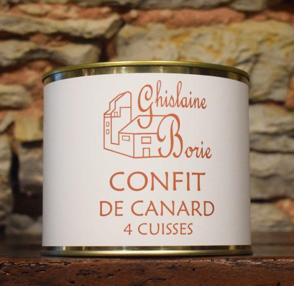 Confit de Canard du Lot 4 Cuisses - 800 gr