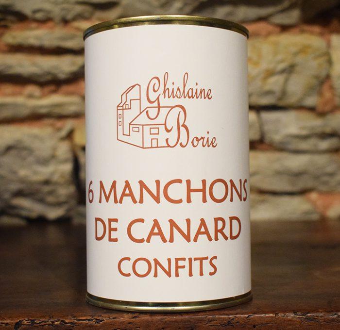 6 Manchons de Canard du Lot Confits - 520 gr